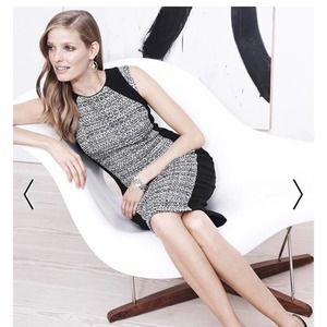 WHITE HOUSE BLACK MARKET Tweed Sheath Dress